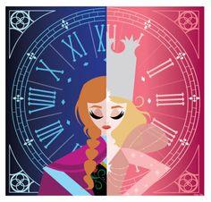 Glanna (Glinda + Anna) illustration