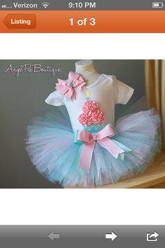 Baby girl's first birthday dress