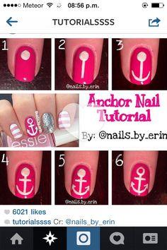DIY Anchor Nail Tutorial