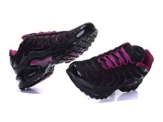 Nike Air Max Tn Requin Plus Junior Chaussures Pour Fille Maille Noir/purple tn basket