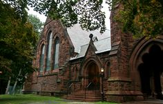 """Poughkeepsie Church, NY - the current church was built in 1888 when they outgrew their current building and was moved to """"The Old English Burial Grounds"""". The graves were moved and the church constructed. Several apparitions have been seen including an elderly woman sitting on one of the pews and a jovial man who has been both seen and heard laughing. Other activity includes candles blowing out without explanation, moving objects, opening and closing doors, and strange and unnatural noises."""