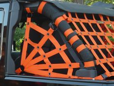 Spider Side Netting- bought this in black for my black jeep. Cannot wait for summer to take the doors off and put this on! Jeep Jk, Jeep Gear, Jeep Truck, Jeep Garage, Jeep Wrangler Parts, Jeep Parts, Wrangler Tj, Jeep Wrangler Accessories, Jeep Accessories