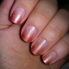 My second gradient design...did bronze colors for a summer feel :) Im getting better at it as I do more