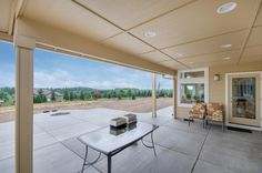 The covered patio area. Designed and built by Quail Homes of Vancouver Washington.