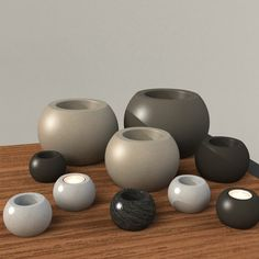 Round Votive - Mold Set - Sizes S-XXL - Now available in 5 sizes!! Concrete Mold, Geometric Mold