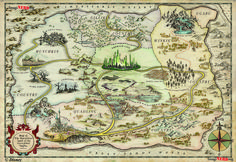 This beautiful map of Oz.   19 Maps That Will Change How You See Your Favourite Fictional Worlds