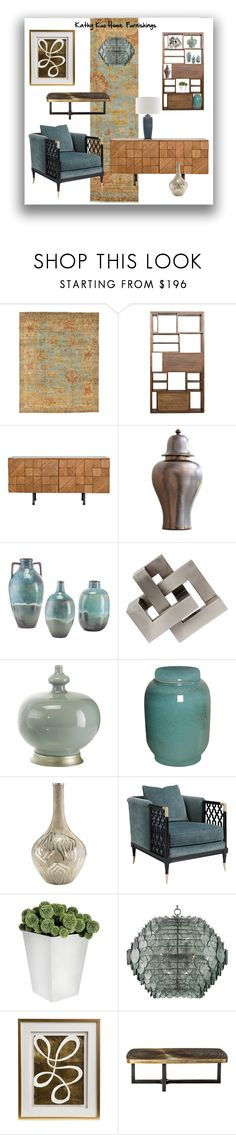 """""""Kathy Kuo furnishings"""" by colonae ❤ liked on Polyvore featuring interior, interiors, interior design, home, home decor and interior decorating"""