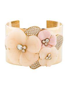 40f430e6510476 Crystal Flower Cuff Resin Flowers, Luxury Consignment, Crystal Flower, Nina  Ricci, Treasure