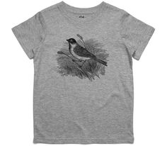 El Cheapo Bird on a Reed Toddler Grey Marle T-Shirt