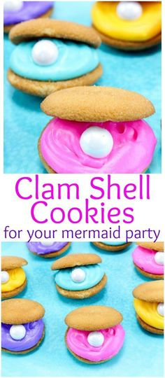 Perfect for a party based on Han Christen Anderson's Little Mermaid. Clam shell cookies perfect for a mermaid party