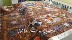 Aboriginal themed quilt made by Sue. Longarm quilted by Le Ann Weaaver with www.persimmonquilts.com