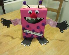 valentine box ideas for preschool - Yahoo Search Results Yahoo Image Search Results Valentine Day Boxes, Valentines Day Party, Valentines For Kids, Valentine Day Crafts, Holiday Crafts, Valentine Ideas, Monster Box, Diy Crafts For Kids, Holidays And Events