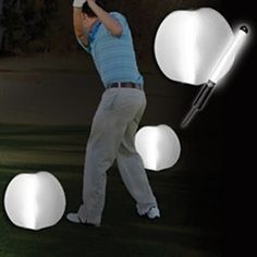 """Mark the area of your tee boxes with our Light Up Tee Box Markers. Our tee box marker set comes with: (2) 12"""" inflatable balls and 2 LED inserts that fit inside the ball and illuminate the tee box. Each set also comes with 2 stakes to easily place in the ground. Our Tee Box Marker Balls can be used to mark walkways at outdoor events as well as on a golf course for a night time golf outing. Some assembly required."""