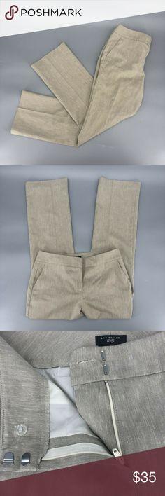 A3 Size 0 Ann Taylor Signature Black Skinny Slim Fit Black Trouser Pants