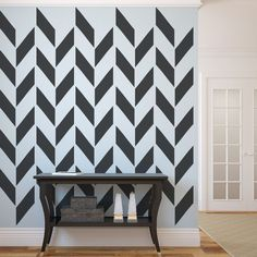 Herringbone wall decor
