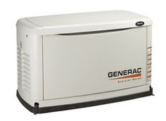 Generac 6237 generator $2,250.00 This Generac small stationary generator is natural gas- or propane-powered and is rated for 7,000 (natural gas) and 8,000 (propane) watts.