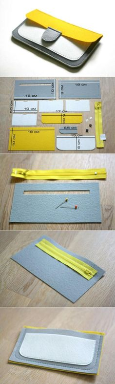 New Sewing Patterns Purse Wallet Tutorial Ideas Diy Wallet, Wallet Tutorial, Purse Wallet, Felt Wallet, Felt Purse, Card Wallet, Coin Purse, Sewing Tutorials, Sewing Patterns