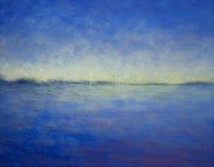 Malarstwo z linią horyzontu, Victoria Veedell | oil painting | Blue Horizon at UGallery