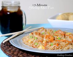 Cooking Creation: 15-Minute Shrimp Mei Fun