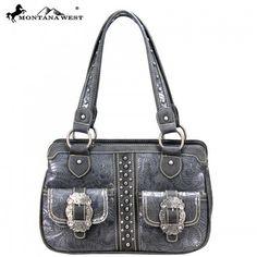 Montana West Western Buckle Dual Pocket Handbag