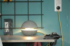 Betonlampe--Beton Lampen-Kreativ Beton-Kreativbeton  -2