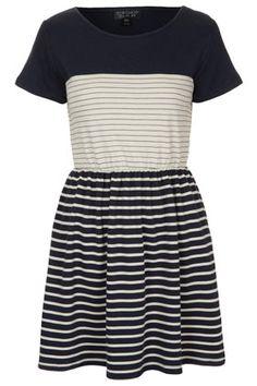 Contrast Stripe Dress