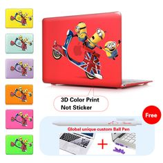 Funny Minions 3d Film Air 11.6 13.3 Print Hard Crystal Shell Cover Cases For Macbook Laptop Apple Mac Book Pro Retina 13 15 12