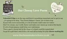 Ramping up the cheesy love for Valentine's Day! Cheese Maker, How To Make Cheese, Love Poems, Valentines Day, Sayings, Poems Of Love, Valantine Day, Valentine's Day, Lyrics
