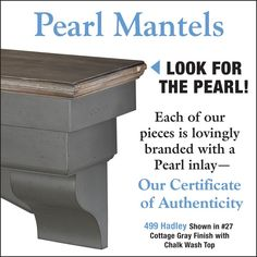 Pearl Mantels The Hadley Distressed Cottage Mantel Shelf Faux Fireplace Mantels, Fireplace Shelves, Cottage Fireplace, Wood Mantels, Mantel Shelf, Fireplace Screens, Fireplace Remodel, Fireplace Inserts, Fireplaces