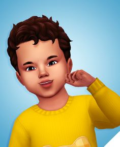 """Jordie Hair""""That shorty curly hair from Cats & Dogs converted to toddlers """" • BGC • 9 EA Colors • Hat compatible (Only for the one hat EA has in the game, when they add a new hat style for toddlers I..."""