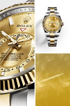 79b6bf31714 Discover the new Rolex Sky-Dweller unveiled at Baselworld 2017. Relogios  Dourados
