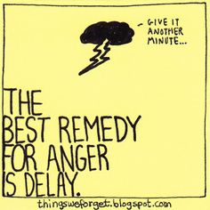 1061: The best remedy for anger is delay.