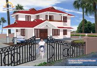 4 beautiful home elevation designs in architecture Kerala House Design, Small House Design, Modern House Design, House Plans Online, 3d House Plans, Beautiful Home Designs, Beautiful Homes, Home Design Blogs, 30x40 House Plans
