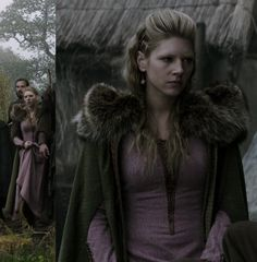 Lagertha's pink dress from Vikings. I also love the design of the cloak.