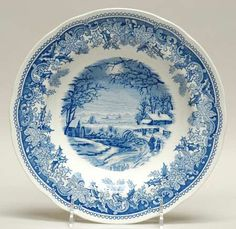 Spode Winter's Eve-Blue (Camilla Shape) at Replacements, Ltd