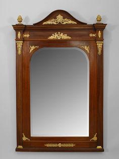 French Empire mirror wall mirror mahogany