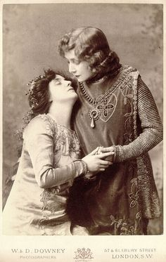 """Sarah Bernhardt and Mrs. Patrick Campbell. """"I have often been asked why I am so fond of playing male parts. As a matter of fact, it is not male parts, but male brains that I prefer."""""""
