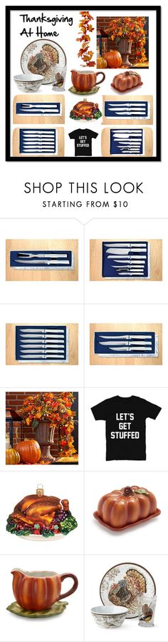 """""""Thanksgiving At Home"""" by vintagecountrycouture31560 on Polyvore featuring interior, interiors, interior design, home, home decor, interior decorating, Radà, Improvements, Harrods and Sur La Table"""