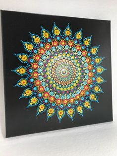 A personal favorite from my Etsy shop https://www.etsy.com/listing/591110963/original-mandala-painting-on-canvas