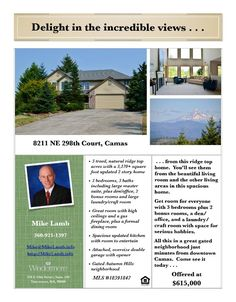 Real Estate for Sale at $615,000! Come and view this beautifully updated three bedroom, three bath, 3171 square foot two story gated Autumn Hills ridge top mountain view home on a large five acre lot located at 8211 NE 298th Court, Camas, Washington 98607 in Clark County area 32 which is in the Camas city limits. The RMLS number is 18391847. It has one propane burning fireplace and a territorial view which includes a view of trees and a mountain. It was built in 1996 and has an attached two…