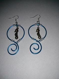 Sea horse earrings by IntrigueByTania on Etsy