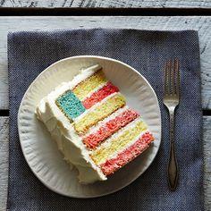 Flag Cake Recipe - 4th of July Cake