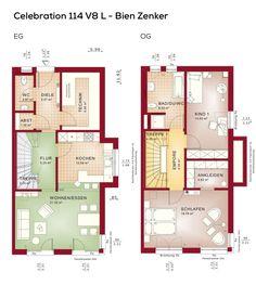 Grundriss Doppelhaus Modern Mit Flachdach Architektur Im Bauhausstil