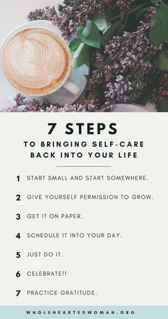 7 Steps To Bringing Self-Care Back Into Your Life | Self-Care Tips | Personal Growth & Development | Mindfulness | Self-Love