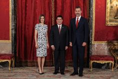 MyRoyals:  King Felipe and Queen Letizia welcomed President of Paraguay Horacio Cartes Jara, Palacio Real, Madrid, June 9, 2015