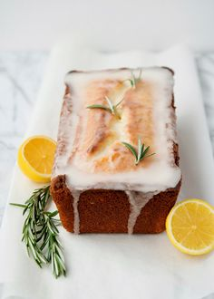 lemon rosemary yogurt cake - Pepper & Buttons