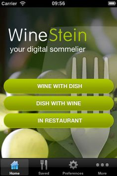 A beautifully designed wine selection app for the iPhone or iPad