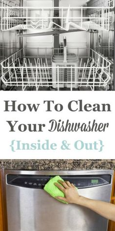 Your dishwasher is designed to clean your dishes, but with time you also need to clean this often used appliance itself. That& no surprise really. Your dishwasher is a warm wet environment that gets dirty. Cleaning Solutions, Cleaning Hacks, Cleaning Supplies, Cleaning Recipes, Cleaning Your Dishwasher, Kitchen Cleaning, Dishwasher Cleaner, Kitchen Hacks, Get Rid Of Mold