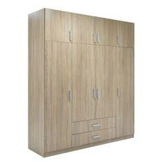 Ντουλάπα ρούχων Dose τετράφυλλη με πατάρι χρώμα sonoma 200x58x230 Tall Cabinet Storage, Furniture, Home Decor, Decoration Home, Room Decor, Home Furnishings, Arredamento, Interior Decorating