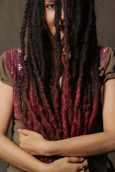 Red Ombre locs!
